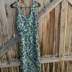 Mudd slip dress sleeveless cinched waist medium